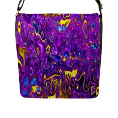Melted Fractal 1a Flap Messenger Bag (l)  by MoreColorsinLife