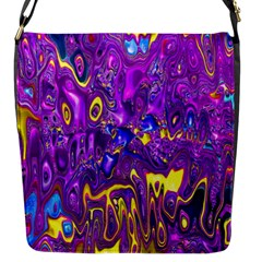 Melted Fractal 1a Flap Messenger Bag (s) by MoreColorsinLife