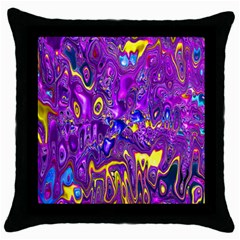 Melted Fractal 1a Throw Pillow Case (black)