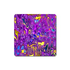 Melted Fractal 1a Square Magnet