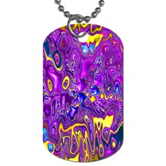 Melted Fractal 1a Dog Tag (two Sides) by MoreColorsinLife