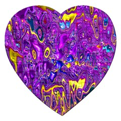 Melted Fractal 1a Jigsaw Puzzle (heart) by MoreColorsinLife
