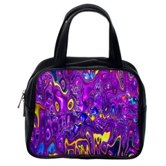 Melted Fractal 1a Classic Handbags (one Side) by MoreColorsinLife