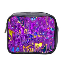 Melted Fractal 1a Mini Toiletries Bag 2 Side by MoreColorsinLife
