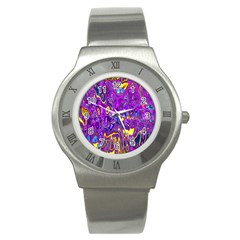 Melted Fractal 1a Stainless Steel Watch by MoreColorsinLife