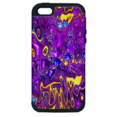 Melted Fractal 1a Apple Iphone 5 Hardshell Case (pc+silicone)