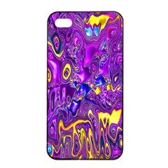 Melted Fractal 1a Apple Iphone 4/4s Seamless Case (black) by MoreColorsinLife