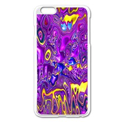 Melted Fractal 1a Apple Iphone 6 Plus/6s Plus Enamel White Case by MoreColorsinLife