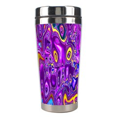 Melted Fractal 1a Stainless Steel Travel Tumblers by MoreColorsinLife