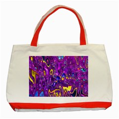 Melted Fractal 1a Classic Tote Bag (red) by MoreColorsinLife