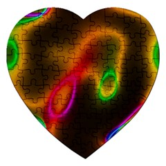 Vibrant Fantasy 4 Jigsaw Puzzle (heart) by MoreColorsinLife