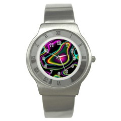 Vibrant Fantasy 5 Stainless Steel Watch by MoreColorsinLife