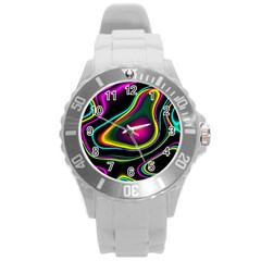 Vibrant Fantasy 5 Round Plastic Sport Watch (l) by MoreColorsinLife