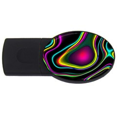 Vibrant Fantasy 5 Usb Flash Drive Oval (2 Gb) by MoreColorsinLife