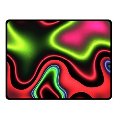 Vibrant Fantasy 1b Double Sided Fleece Blanket (small)  by MoreColorsinLife