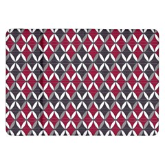 Rhomboids Pattern Red Grey Samsung Galaxy Tab 8 9  P7300 Flip Case by Cveti