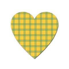 Green Stripes Heart Magnet by berwies