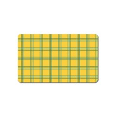 Green Stripes Magnet (name Card) by berwies