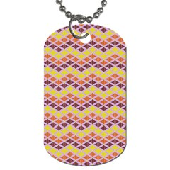 Wave Pattern 3 Dog Tag (one Side) by Cveti