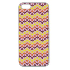 Wave Pattern 3 Apple Seamless Iphone 5 Case (clear) by Cveti