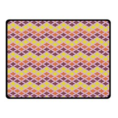 Wave Pattern 3 Double Sided Fleece Blanket (small)  by Cveti