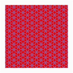 Flower Of Life Pattern Red Purle Medium Glasses Cloth by Cveti