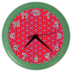 Flower Of Life Pattern Red Purle Color Wall Clocks