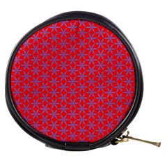 Flower Of Life Pattern Red Purle Mini Makeup Bags by Cveti