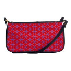 Flower Of Life Pattern Red Purle Shoulder Clutch Bags by Cveti