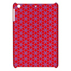 Flower Of Life Pattern Red Purle Apple Ipad Mini Hardshell Case by Cveti