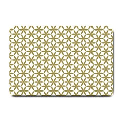 Flower Of Life Pattern Cold White Small Doormat  by Cveti