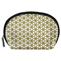 Flower Of Life Pattern Cold White Accessory Pouches (large)  by Cveti