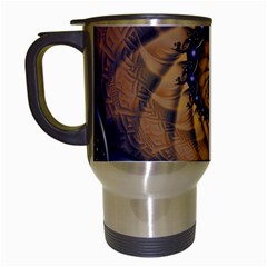 An Emperor Scorpion s 1001 Fractal Spiral Stingers Travel Mugs (white) by jayaprime