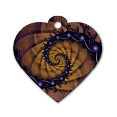An Emperor Scorpion s 1001 Fractal Spiral Stingers Dog Tag Heart (one Side) by jayaprime