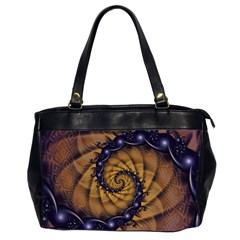 An Emperor Scorpion s 1001 Fractal Spiral Stingers Office Handbags (2 Sides)  by jayaprime