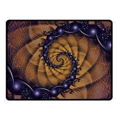 An Emperor Scorpion s 1001 Fractal Spiral Stingers Fleece Blanket (small) by jayaprime
