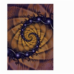An Emperor Scorpion s 1001 Fractal Spiral Stingers Small Garden Flag (two Sides) by jayaprime