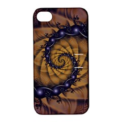 An Emperor Scorpion s 1001 Fractal Spiral Stingers Apple Iphone 4/4s Hardshell Case With Stand by jayaprime