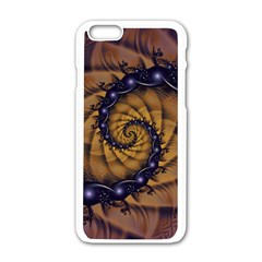 An Emperor Scorpion s 1001 Fractal Spiral Stingers Apple Iphone 6/6s White Enamel Case by jayaprime