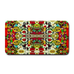 Chicken Monkeys Smile In The Floral Nature Looking Hot Medium Bar Mats by pepitasart