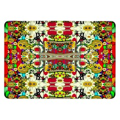 Chicken Monkeys Smile In The Floral Nature Looking Hot Samsung Galaxy Tab 8 9  P7300 Flip Case by pepitasart