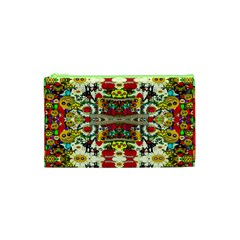 Chicken Monkeys Smile In The Floral Nature Looking Hot Cosmetic Bag (xs) by pepitasart