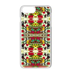 Chicken Monkeys Smile In The Floral Nature Looking Hot Apple Iphone 7 Plus Seamless Case (white) by pepitasart