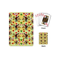Santa With Friends And Season Love Playing Cards (mini)  by pepitasart