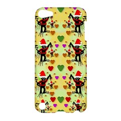 Santa With Friends And Season Love Apple Ipod Touch 5 Hardshell Case by pepitasart