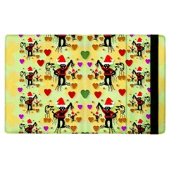 Santa With Friends And Season Love Apple Ipad 2 Flip Case by pepitasart