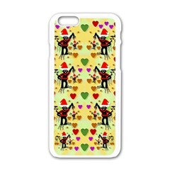 Santa With Friends And Season Love Apple Iphone 6/6s White Enamel Case by pepitasart