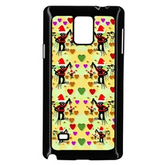 Santa With Friends And Season Love Samsung Galaxy Note 4 Case (black) by pepitasart
