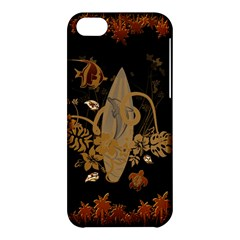 Hawaiian, Tropical Design With Surfboard Apple Iphone 5c Hardshell Case by FantasyWorld7
