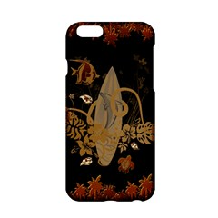 Hawaiian, Tropical Design With Surfboard Apple Iphone 6/6s Hardshell Case by FantasyWorld7